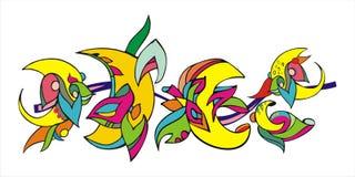księżyc dekoracyjny wzór Obrazy Royalty Free