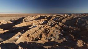 Księżyc dolina w Atacama pustyni Zdjęcia Stock