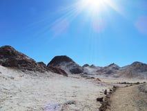 Księżyc dolina w Atacama pustyni Fotografia Royalty Free