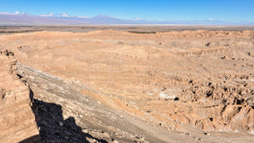 Księżyc Dolinny widok w Atacama pustyni, Chile Zdjęcia Royalty Free