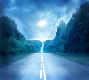 księżyc droga Zdjęcie Stock