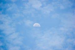 księżyc dzień Zdjęcie Stock