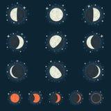 Księżyc faza Zdjęcie Royalty Free
