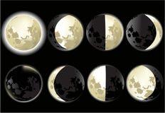 księżyc fazy Obrazy Stock
