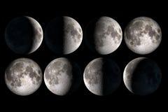 Księżyc fazy fotografia stock