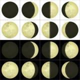 Księżyc fazy, set Obraz Stock