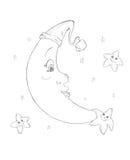 księżyc gwiazdy ilustracji