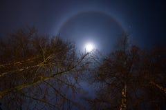 Księżyc halo Obrazy Stock