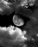 Księżyc i chmury Fotografia Stock