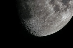 Księżyc i cienie Zdjęcia Royalty Free