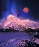 Księżyc I Goverla Zdjęcia Stock