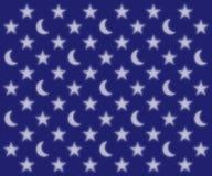 Księżyc i gwiazd wzór Zdjęcia Stock