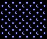 Księżyc i gwiazd wzór Obrazy Stock