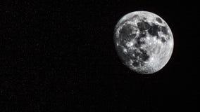 Księżyc I gwiazdy Błyszczy W niebie Obrazy Royalty Free