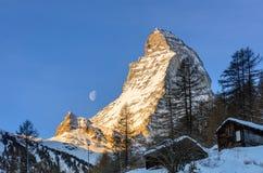 Księżyc i słońce Obraz Stock