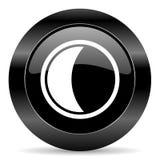 Księżyc ikona Fotografia Royalty Free