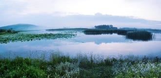 Księżyc jezioro w lecie obraz stock