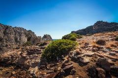 Księżyc krajobraz na Crete wyspie, Grecja zdjęcia royalty free