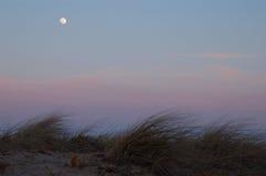 księżyc krajobrazowy zmierzch Zdjęcia Stock