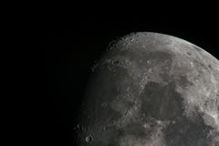 Księżyc kratery Obrazy Stock