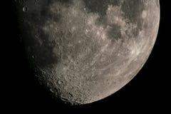 Księżyc kratery Obraz Royalty Free