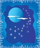księżyc lodowy okno Obrazy Stock