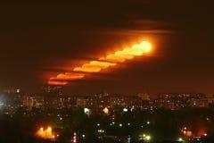 Księżyc megalopolis Zdjęcie Royalty Free