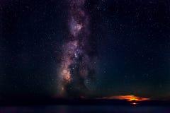 Księżyc & Milky sposób Zdjęcia Stock