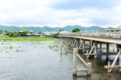 Księżyc mosta Arashiyama okręg skrzyżowanie (Togetsukyo most) Zdjęcia Royalty Free