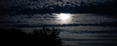 Księżyc niebo Obrazy Stock