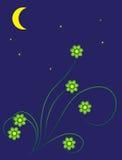 księżyc noc lato ilustracji