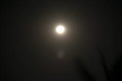 Księżyc nocne niebo Zdjęcie Stock