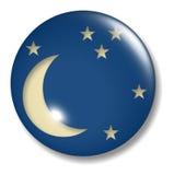 księżyc okręgu kwartału przycisk Obraz Stock