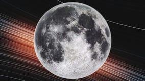 Ksi??yc orbita wiruje planety zako?czenie w g royalty ilustracja