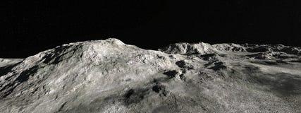 Księżyc panoramy Księżycowy Krajobrazowy tło zdjęcie royalty free