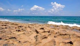 księżyc plażowa Zdjęcia Royalty Free