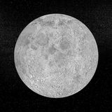 Księżyc planeta - 3D odpłacają się Fotografia Royalty Free