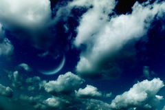 księżyc planetuje gwiazdy fotografia stock