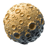 Księżyc planety asteroida odizolowywająca royalty ilustracja