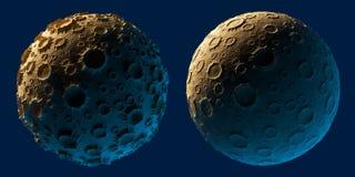 Księżyc planety asteroida odizolowywająca Zdjęcia Royalty Free