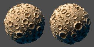 Księżyc planety asteroida odizolowywająca Obrazy Stock