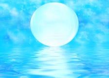 księżyc pluskocząca woda Fotografia Royalty Free