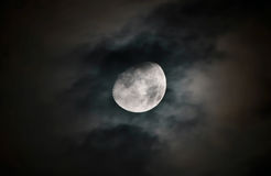 Księżyc powierzchnia z szczegółami Zdjęcia Stock