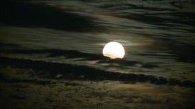 Księżyc powstający timelapse zdjęcie wideo