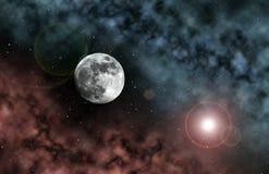 księżyc przestrzeń royalty ilustracja