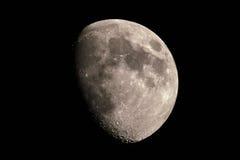 Księżyc, przy 02 2017 Aug, 9 pm Zdjęcia Royalty Free
