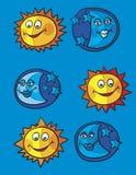 księżyc słońce Obrazy Stock