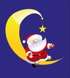 księżyc Santa royalty ilustracja