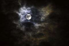 księżyc straszna Obrazy Royalty Free