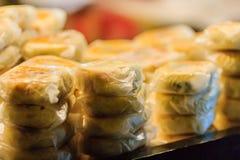 Księżyc tort lub Chiński antyczny deser dzwoniliśmy 'Pia', antyczny desser fotografia stock